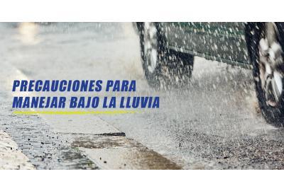 Precauciones para manejar bajo la lluvia