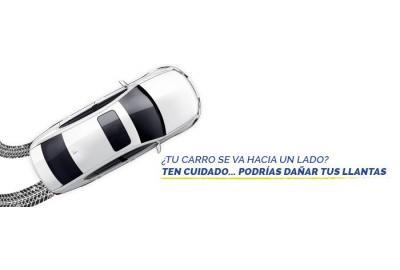 ¿Tu carro se va hacia un lado? Ten cuidado podrías dañar tus llantas... o peor.